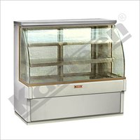 Bend Glass Display Counter, Refrigerated Showcase