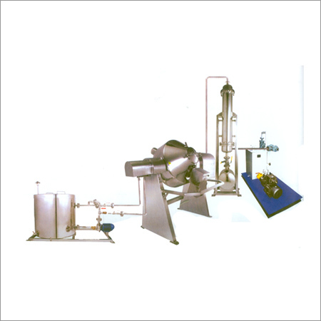 Double Cone Vacuum Dryer with Heating System & Vacum Jet Ejector