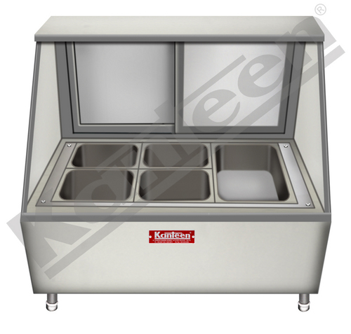 Display Food Service Counter - Tapered Glass