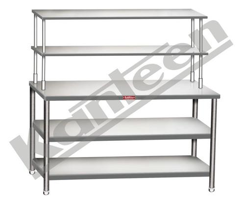 Work Table With 2 Bottom Shelf 7 2 Overhaed Shelf