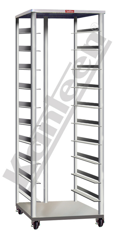 OPEN TRAY RACK TROLLEY - 20 TRAYS