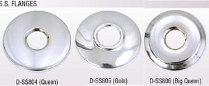 SS CP Wall Flanges