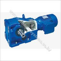 Unicase Helical Bevel Geared Motor