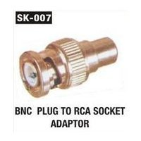 BNC Plug To RCA Socket Adaptor