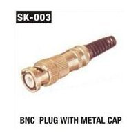 BNC Plug With Metal Cap