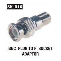 BNC Plug To F Socket Adaptor