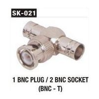1 BNC Plug 2 BNC Socket (BNC T)