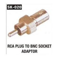 RCA Plug To BNC Socket Adaptor