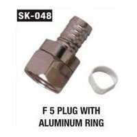 F 5 Plug With Aluminium Ring