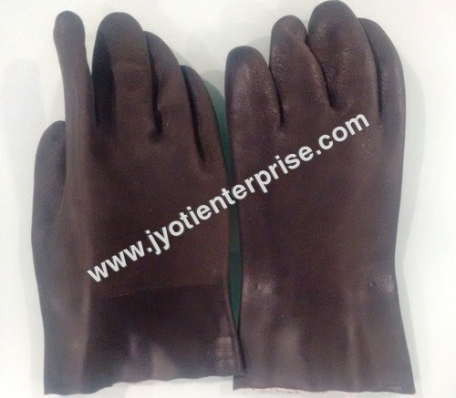 Pvc Hand Gloves Supported