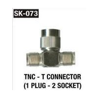 TNC T Connector (1 Plug 2 Socket)