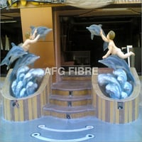 FRP Dolphin statues