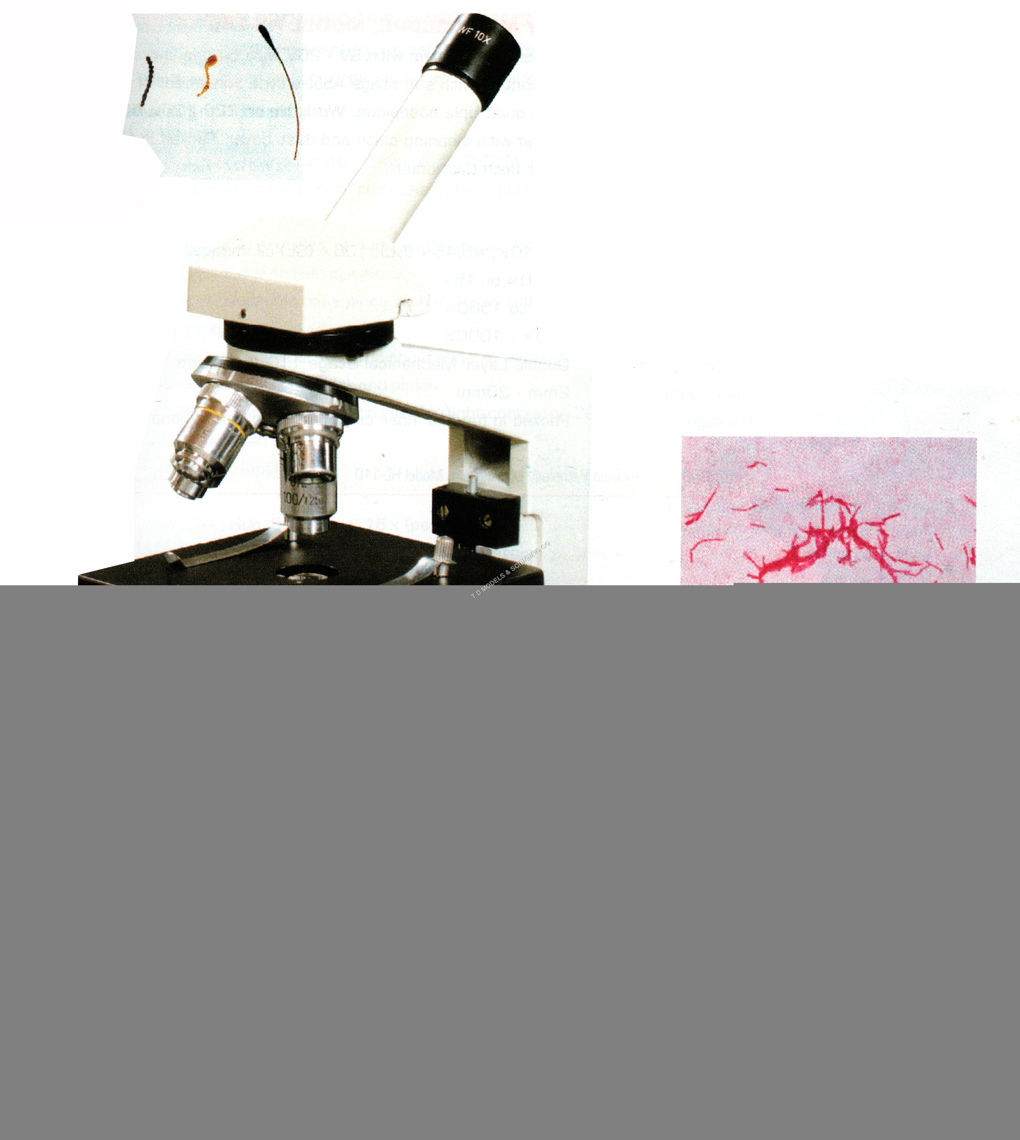 INCLINDED MONOCULAR MICROSCOPE MODEL SL-105 B