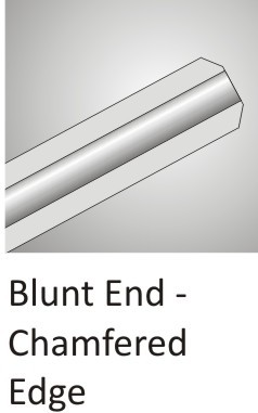 Blunt End Chamfered Edge Cannula