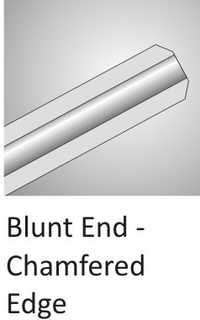 Blunt End Chamfered Edge