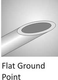Flat Ground Point Cannula