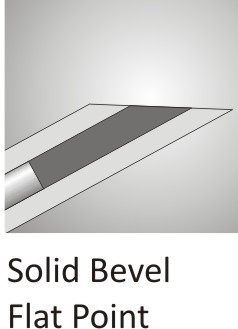 Solid Bevel Flat Point Cannula
