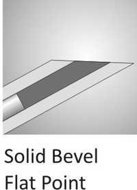 Solid Bevel Flat Point