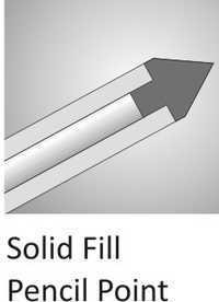 Solid Fill Pencil Point Cannula