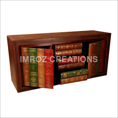 Leather Library Console