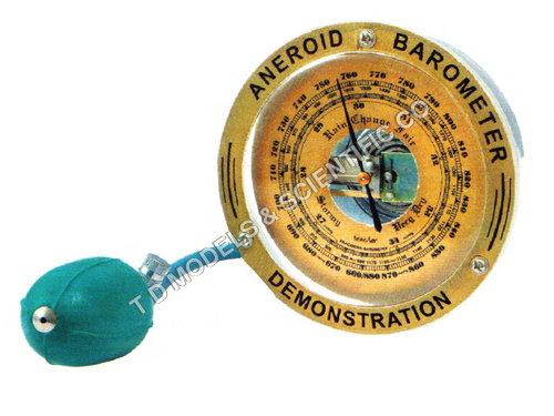 Barometer aneroid demonstration