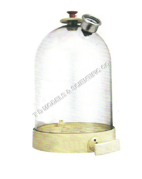 Bell Jar with Vaccume pump hand operated