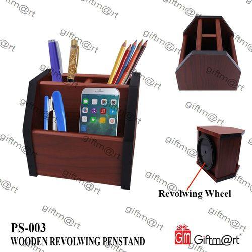 Revolving Wooden Pen Stand