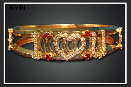 Gold Plated Stone Bangle