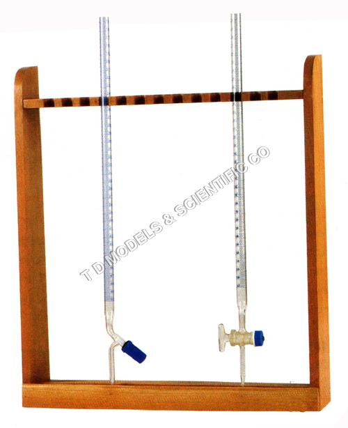 Burette Rack, Vertical Wooden