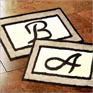 Designer Monogram Bath Rugs