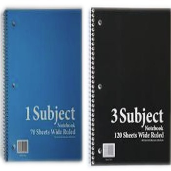 School Stationery Books