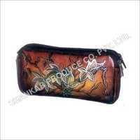 Leather Hand Painted Ladies Purse