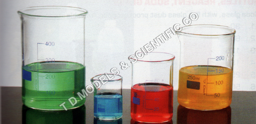 BEAKERS, GLASS, LOW FORM BOROSILICATE GLASS