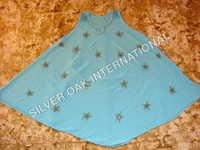 Beads Print Umbrella Dress