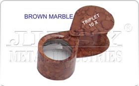 Brown Marble Eye Loupe