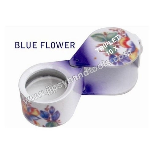 Blue Flower Eye Loupe