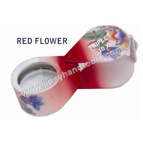 Red Flower Eye Loupe