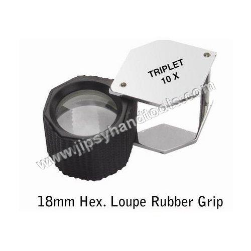 Hex Rubber Grip Eye Loupe