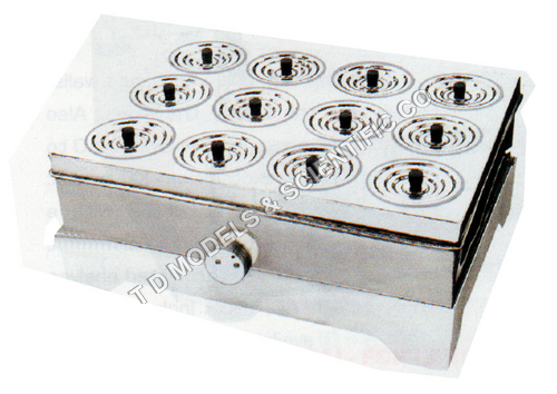 BOILING WATER BATH, RECTANGULAR 12 PLACE