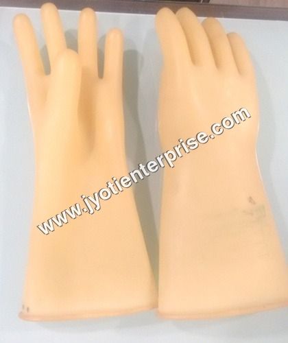 Industrial White Rubber Hand Gloves