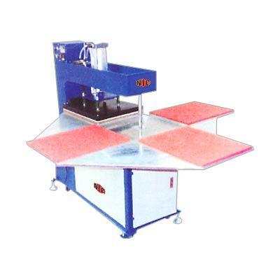 Pneumatic Heat Transfer Sticker Machine Four Bed