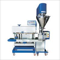 Vertical Pouch Sealer With Auger Filler