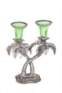 Double Khajur Candle Stand