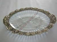 Glass Metal Tray