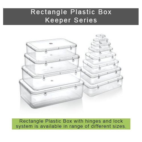 Transparent plastic box - keeper Series