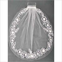 Ribbon Applique Bridal Veil