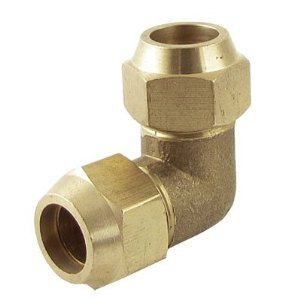 90 Degree Brass Double End Elbow