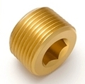 Brass Countersunk Hex Plug