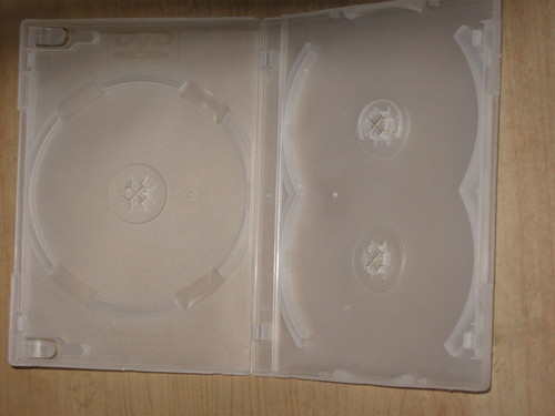 3 IN 1 Milky-Clear DVD Library Case