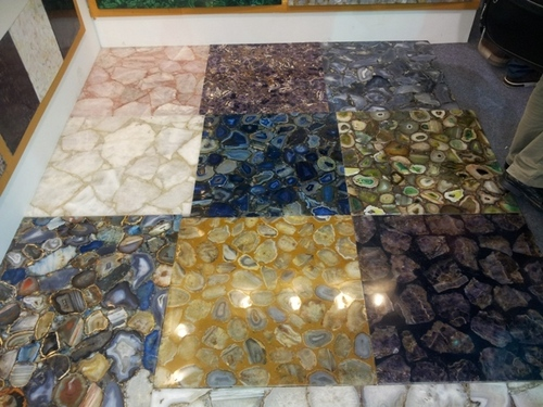 Gemstone slabs